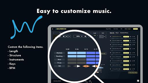 Customizable music tracks