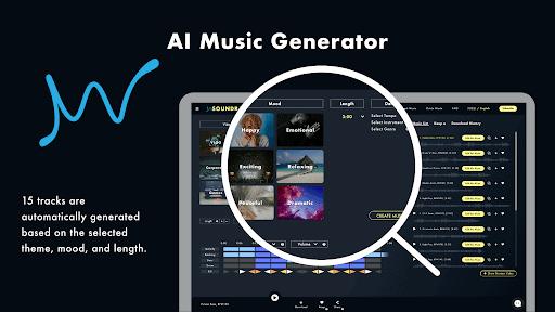 Music generator dashboard
